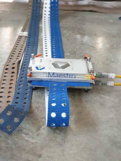 Монтаж на място на перфорирана транспортна лента SBR C37 Supergrip - картонажна промишленост - Технокон ООД - София